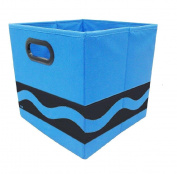 Modern Littles Crayola Black Serpentine Storage Bin, Blue