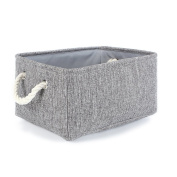 Storage Baskets,Srasi Foldable Linen Storage Bins for Bedroom,Closet,Toys,Laundry Grey