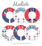 Modish Labels Baby Nursery Closet Dividers, Closet Organisers, Nursery Decor, Nautical, Anchors, Sail Boats, Gender Neutral, Boy, Girl