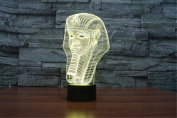 ATC Unique Egyptian Pharaoh 3D USB Powered 7 Colour Changing Touch Night Light,A Beautiful Décor for Nursery Kids Baby Room