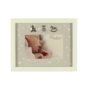 Oaktree Gifts Baby Photo Frame with Star Pattern 6 x 4