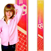 Growth Chart Art | Wooden Sports Growth Chart for Kids, Boys & Girls | Sports Themed Nursery Wall Decor | Soccer