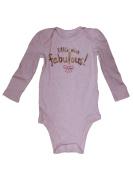 Jumping Beans Infant Girls Gold Little Miss Fabulous Long Sleeve Bodysuit