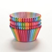 25 PC Beautiful Rainbow Pattern Cupcake Wrapper Set Cupcake Wrappers from Bakell