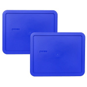 Pyrex 7212-PC Cobalt Blue 11 Cup Rectangle Plastic Lid - 2 Pack