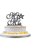 Wedding Cake Topper Mr and Mrs Starfish , Nautical style topper for cake