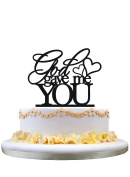 God Gave Me You Wedding Cake Topper party decoration