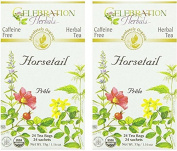 Celebration Herbals Organic Horsetail Tea Caffeine Free -- 24 Herbal Tea Bags