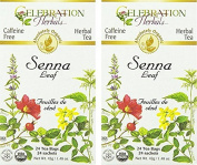Celebration Herbals Organic Senna Leaf Tea Caffeine Free - 48 Teabags in Total