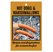Rome Industries Hot Dogs & Marshmallows Recipe Book, 14cm x 22cm , Black