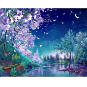 Blxecky 5D DIY Diamond Painting By Number Kits,Moonlight stream