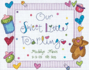 Dimensions Needlecrafts Counted Cross Stitch, Darling Baby Birth Record