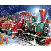 Blxecky 5D DIY Diamond Painting By Number Kits,Merry Christmas
