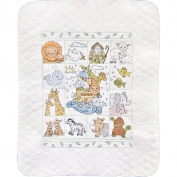 Noah'S Ark Quilt Stamped Cross Stitch Kit-34x43