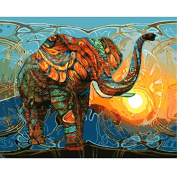 Framed Pictures Painting By Numbers Diy Digital Oil Painting On Canvas Home Decor Wall Art Abstract Oil Painting Elephant