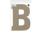 Accent Design Paper Accents ADP49408 20cm B 1 Piece Natural Chipboard Chip Letter