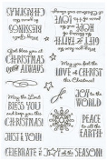 Justrite Papercraft Gift of Faith Stamp Set, 10cm by 15cm , Clear