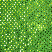 Neon Green Small Dot Confetti Sequin Fabric 110cm wide sold by the yard