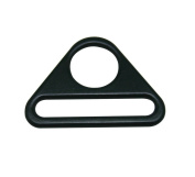 Tianbang Black Triangle Buckle String and Bandage Connector 3.8cm Oval Diameter Pack of 10