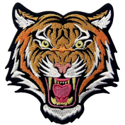 The Roaring Bengal Striped Tiger Embroidered Badge Iron On Sew On Patch