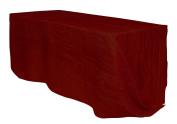 Your Chair Covers Rectangular Crinkle Taffeta Tablecloths, 230cm X 400cm , Burgundy