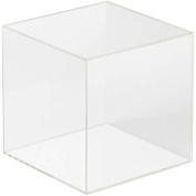 Comolife clear 5 sided acrylic display cube box, figure case, H5.8xW5.8xD5.20cm