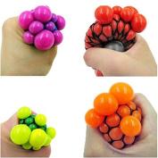 Generic Stress Relief Squeezing Soft Rubber Vent Grape Ball Hand Wrist Toy Random Colour 1Pc