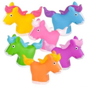 12 Pack Squirting Bath Toys 5.1cm Rubber Colourful Ponies Squirts Baby and Children Horse Toys in Assorted Vivid Colours 1 Dozen