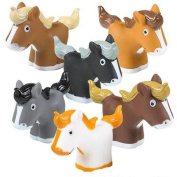 12 Pack Squirting Bath Toys 5.1cm Rubber Ponies Squirts Baby and Children Horse Toys in Assorted Vivid Colours 1 Dozen