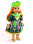 Irish River Dance Dress | Fits 46cm American Girl Dolls, Madame Alexander, Our Generation, etc. | 46cm Doll Clothes