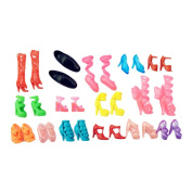 18 Pieces Random Style Doll Shoes Doll Boots Doll High Heels Doll Accessory