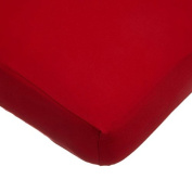 TL Care Supreme 100% Jersey Knit Crib Sheet, Red, 70cm x 130cm