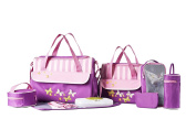 SOHO Collections, 10 Pieces Nappy Bag Set .  Butterflies Meadows)