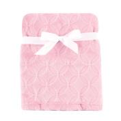 Hudson Baby Burnout Plush Blanket, Pink Circles, 80cm x 100cm
