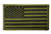 USA Flag Hook and loop Patch with Hook and Additional Hook and loop Loop for Easy Sew On Convenience