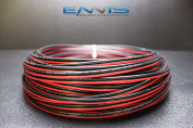 14 GAUGE 15m RED BLACK SPEAKER ZIP WIRE AWG CABLE POWER STRANDED COPPER CLAD EE