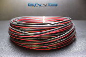 12 GAUGE 30m RED BLACK SPEAKER ZIP WIRE AWG CABLE POWER STRANDED COPPER CLAD EE