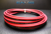10 GAUGE 15m RED BLACK SPEAKER ZIP WIRE AWG CABLE POWER STRANDED COPPER CLAD EE