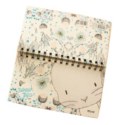 Set of 2 Lovely Coil Schedule Book Weekly Planner Plan Notebook Animal White