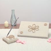 Something Rustic Wedding Guest Book and Pen Set - by KateMelon