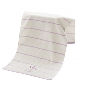 Topbeu Soft Cotton Embroidered Lavender Towel Bath Towel for Bath, Hand, Face