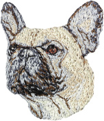 French Bulldog, Embroidery, patch with the image of a dog