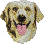 Golden Retriever, Embroidery, patch with the image of a dog