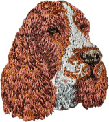 English Springer Spaniel, Embroidery, patch with the image of a dog