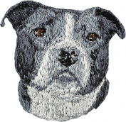 American Bulldog, Embroidery, patch with the image of a dog