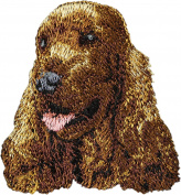 English Cocker Spaniel, Embroidery, patch with the image of a dog
