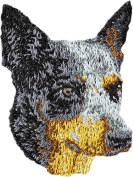 Australian Cattle Dog, Embroidery, patch with the image of a dog