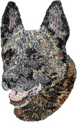 Dutch Shepherd, Embroidery, patch with the image of a dog
