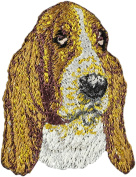 Basset Hound, Embroidery, patch with the image of a dog