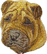 Shar-Pei, Embroidery, patch with the image of a dog
